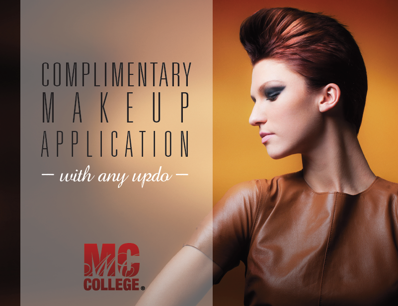 free make up application with any updo